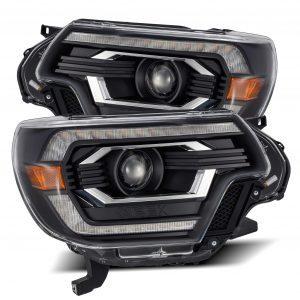 2012 2013 2014 2015 Toyota Tacoma AlphaRex PRO-Series/LUXX-Series Projector Headlights Black