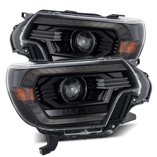 2012 2013 2014 2015 Toyota Tacoma AlphaRex PRO-Series/LUXX-Series Projector Headlights Alpha-Black