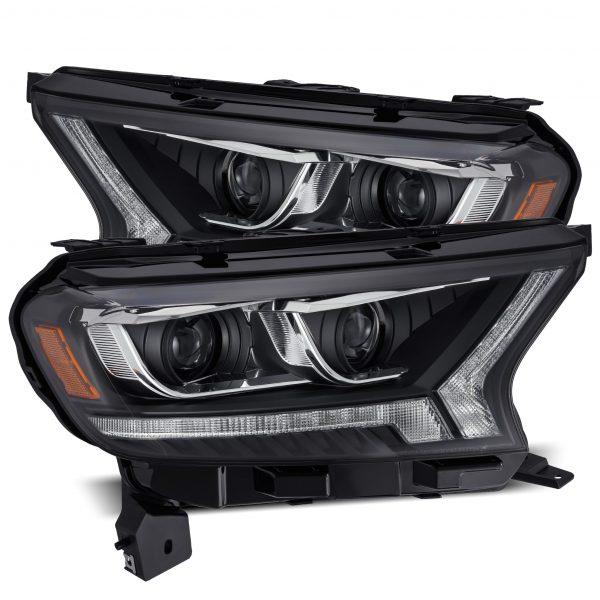 2016 2017 2018 2019 2020 Ford Ranger PRO-Series/LUXX-Series Projector Headlights Black