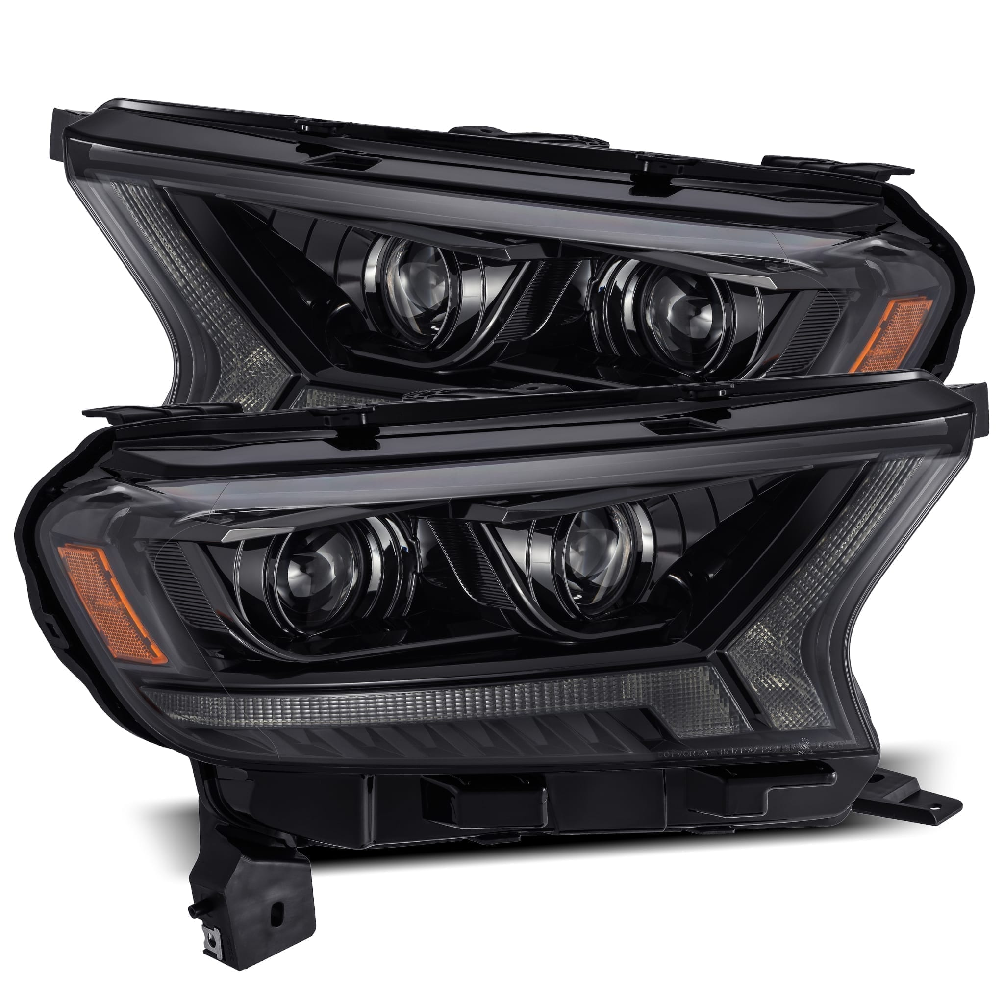 2016 2017 2018 2019 2020 Ford Ranger PRO-Series/LUXX-Series Projector Headlights Alpha-Black