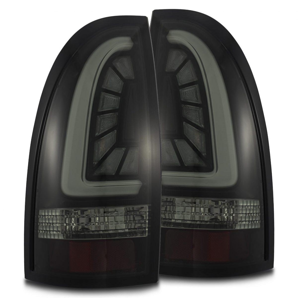 2005 2006 2007 2008 2009 2010 2011 2012 2013 2014 2015 Toyota Tacoma AlphaRex PRO-Series LED Tail Lights Jet Black