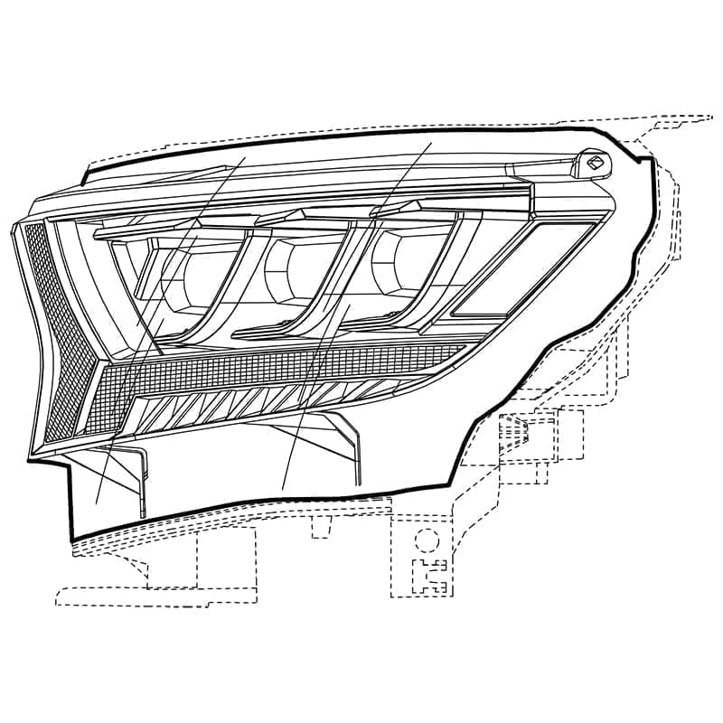 2016 2017 2018 2019 2020 Ford Ranger NOVA-Series LED Projector Headlights Design