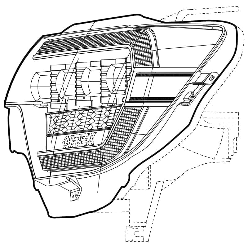 2012 2013 2014 2015 Toyota Tacoma AlphaRex NOVA-Series LED Projector Headlights Design