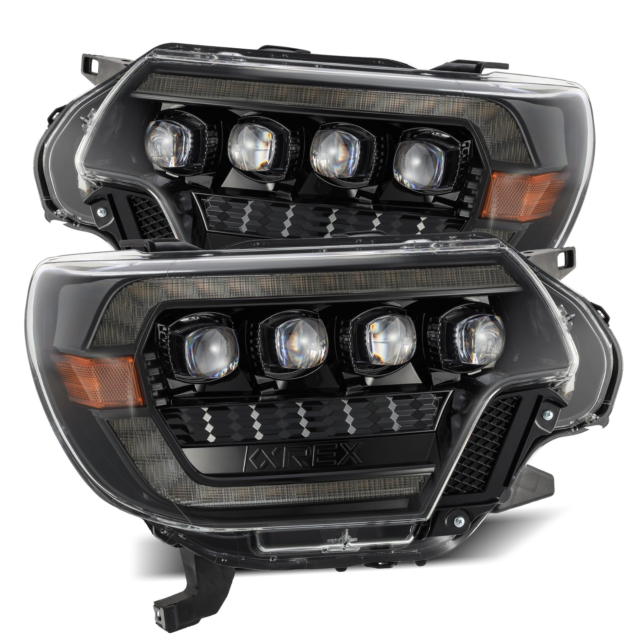2012 2013 2014 2015 Toyota Tacoma AlphaRex NOVA-Series Projector Headlights Alpha-Black