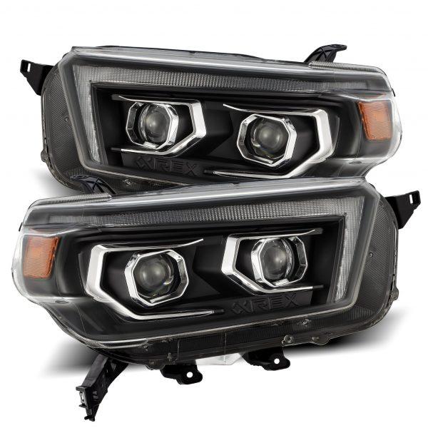 2010 2011 2012 2013 Toyota 4Runner LUXX-Series LED Projector Headlights Black