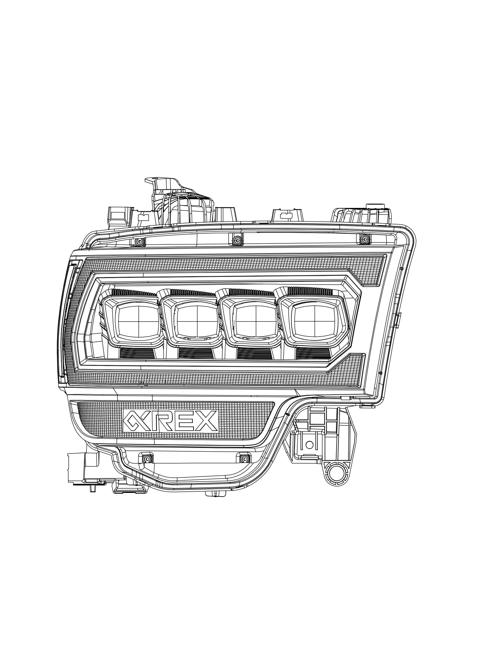 2019 2020 2021 Ram 2500 NOVA-Series Projector Headlights Design